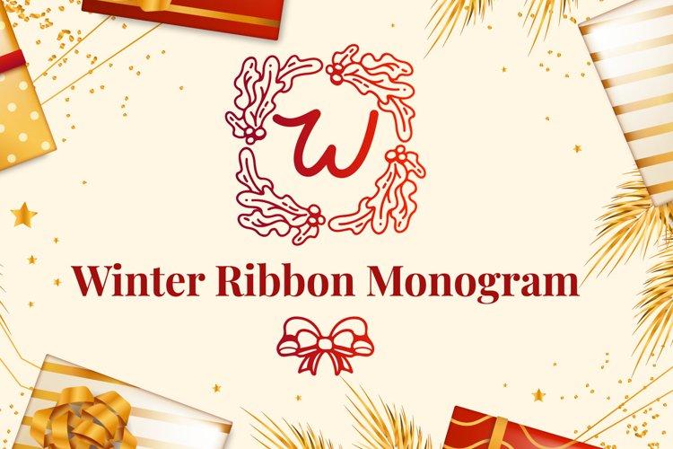 Winter Ribbon Monogram example image 1
