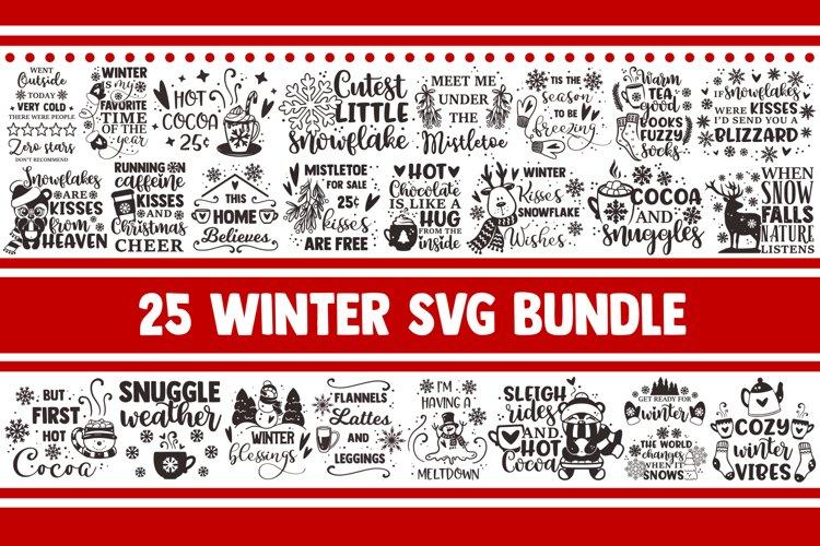 Winter SVG Bundle, Christmas svg, snowflake svg, santa svg