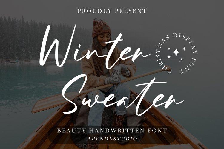 Winter Sweater - Beauty Handwritten example image 1