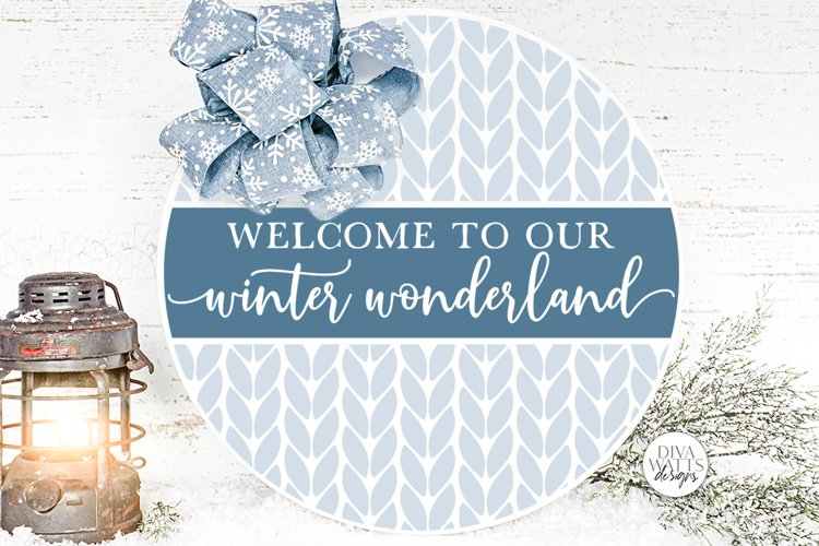 Welcome To Our Winter Wonderland SVG   Christmas Round Desig example image 1