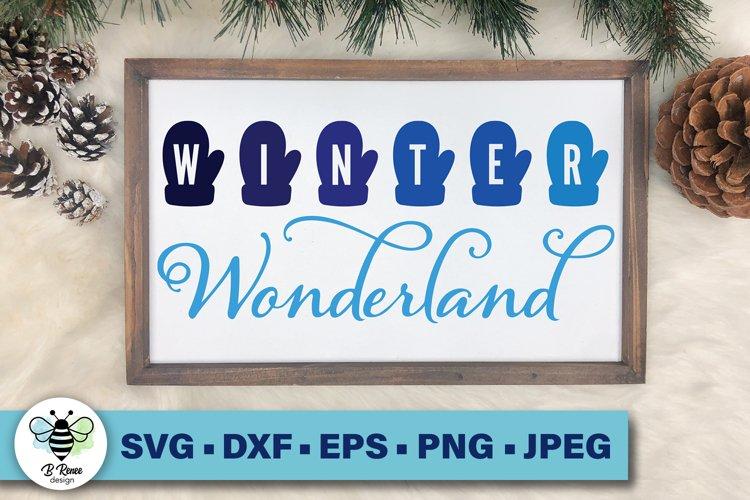 Winter Wonderland SVG | Mittens SVG | Winter Printable example image 1