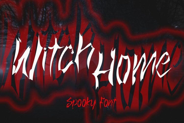 Witch Home - Halloween Font example image 1