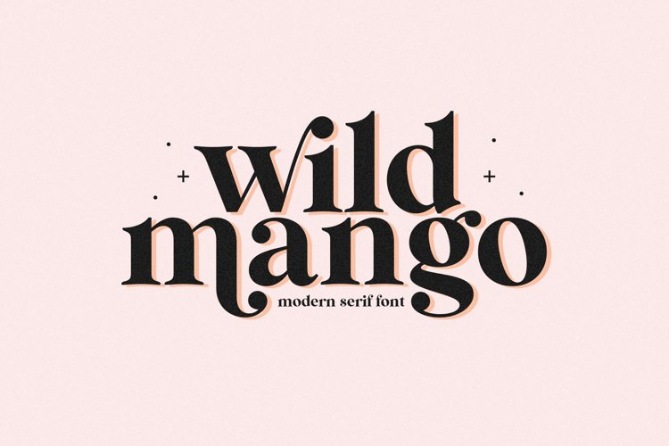 Wild Mango - A Modern Serif Font