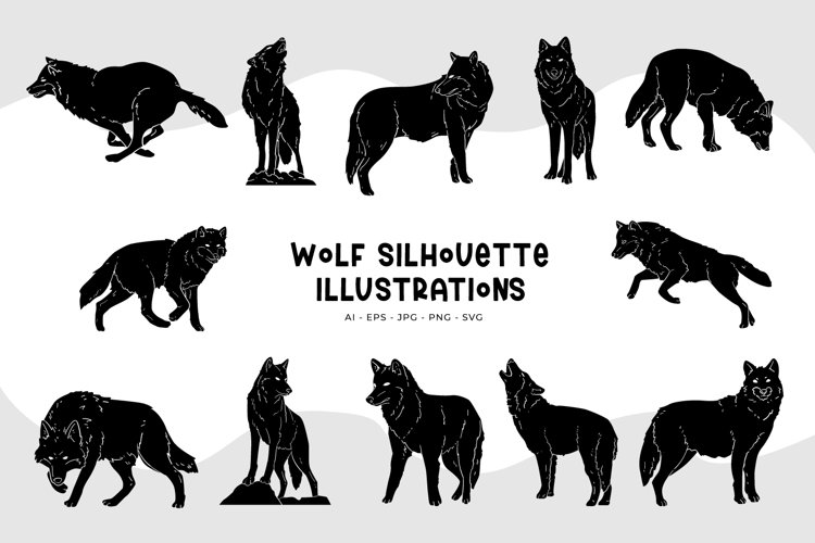 Wolf Silhouette Illustrations