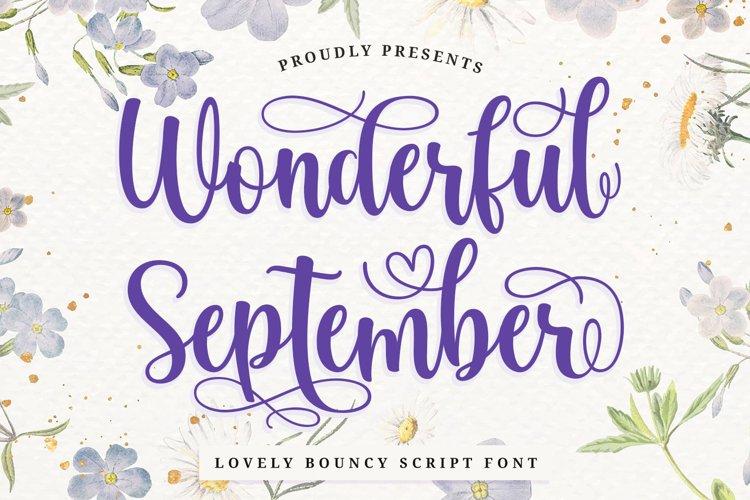 Love Swash Script Font - Wonderful September example image 1