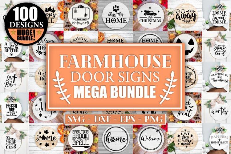 Farmhouse Mega Door Signs SVG Bundle Christmas Farmhouse Svg
