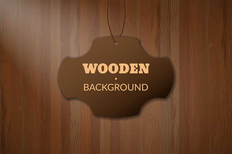 Dark Brown Wooden Texture Pattern with Copy Space