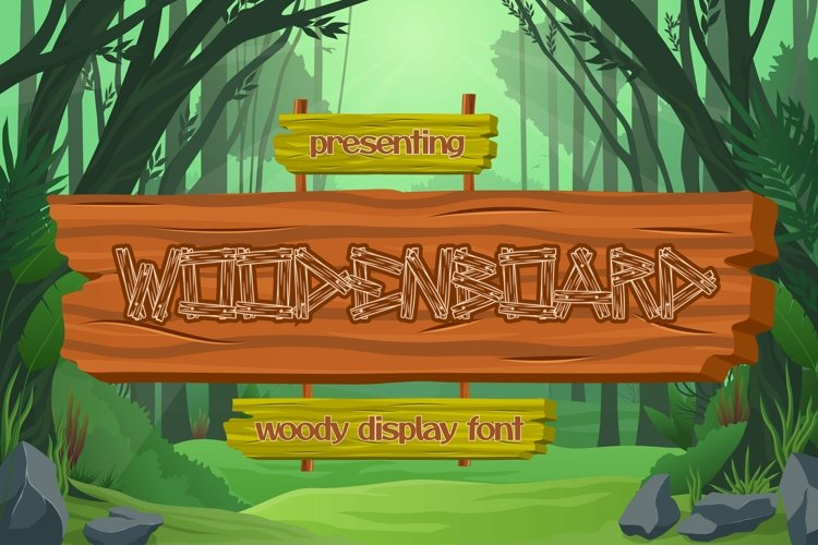 Web Font Woodenboard - Wood Display Font example image 1