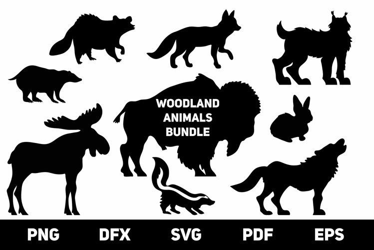 Woodland Animals Silhouettes SVG Bundle