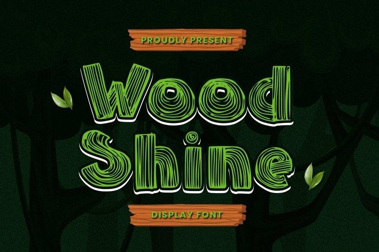 Web Font Woodshine Font example image 1