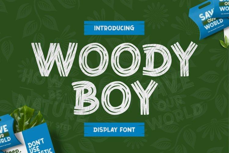 Web Font Woody Boy example image 1