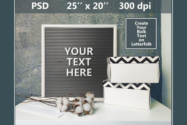 Letterfolk Digital Mockup with Your Bulk Text.