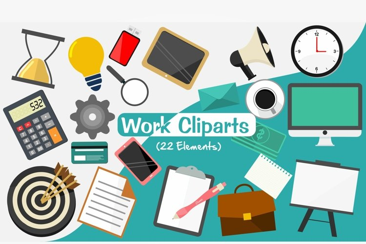 Work Clip arts, Work setting PNG Elements example image 1