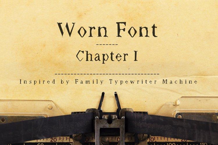 Worn Font - Múltiliñgüâl Suppørt Inspired by Old Typewriter example image 1