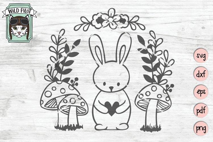 Bunny Rabbit SVG File, Easter SVG File, Woodland Animal SVG example image 1