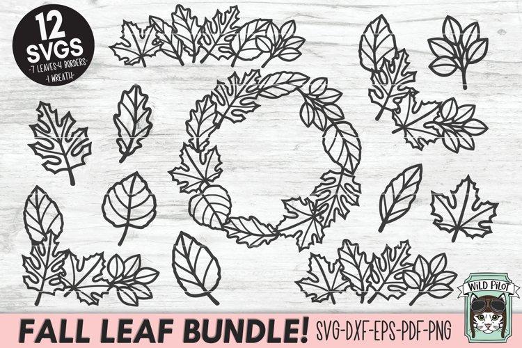Fall Leaves SVG File, Autumn Leaf SVG, Monogram Frame SVG example image 1