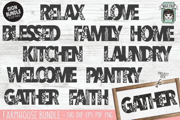 Home Sign SVG Bundle, Home SVG Cut File, Farmhouse Sign SVG example image 1