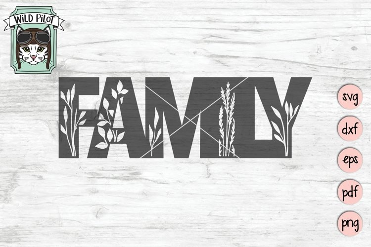 Family SVG Cut File, Home Sign SVG File, Farmhouse Sign SVG example image 1