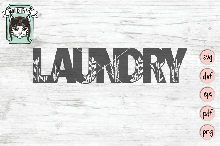 Laundry SVG Cut File, Home Sign SVG File, Farmhouse Sign SVG example image 1