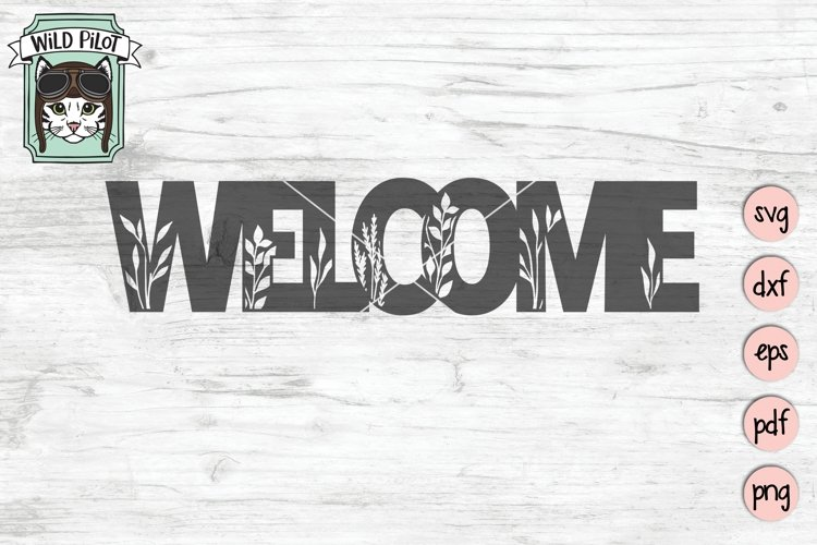 Welcome Sign SVG Cut File, Home Sign SVG, Farmhouse Sign SVG example image 1