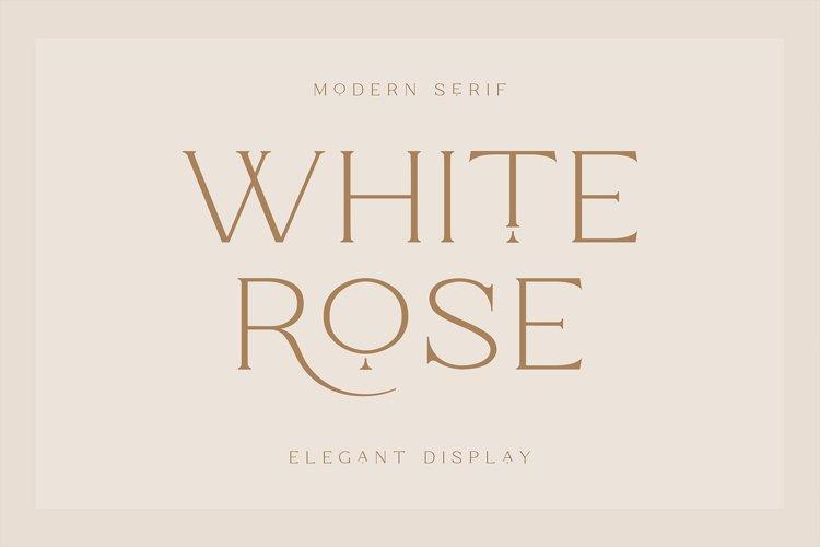 White Rose - Classic Serif example image 1