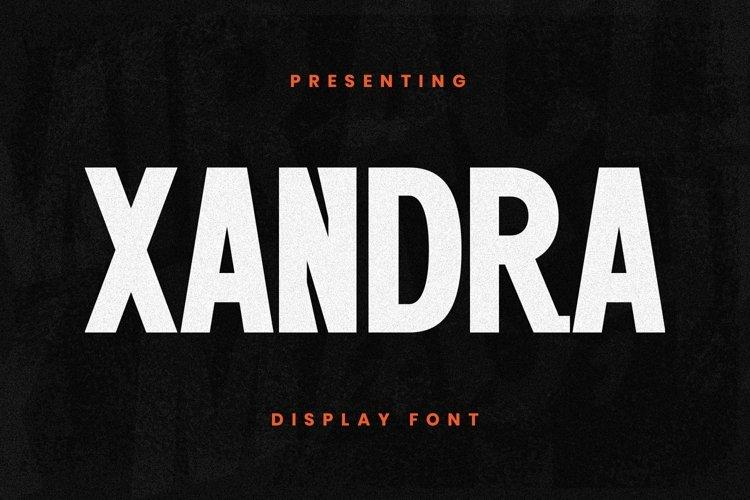 Web Font Xandra example image 1