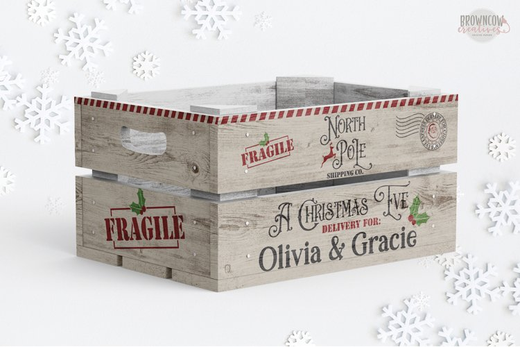 Christmas Eve Box SVG, Christmas Eve Crate SVG