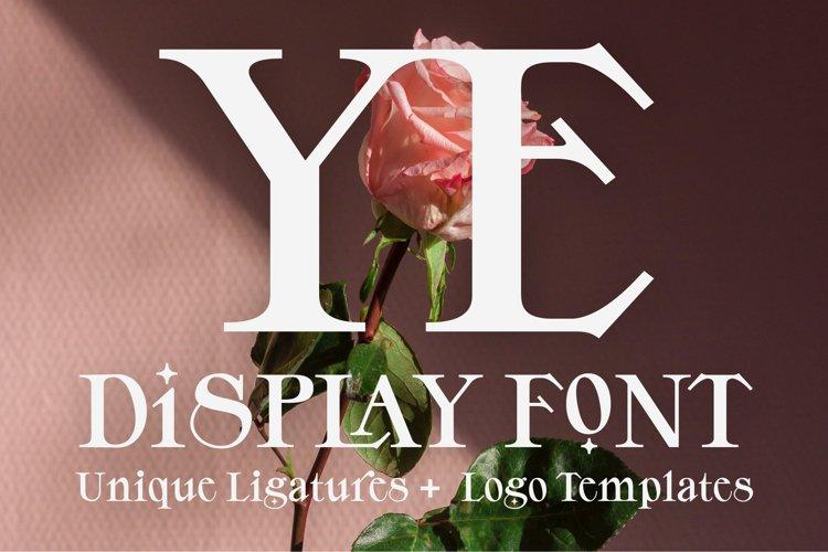 YE Display Font example image 1