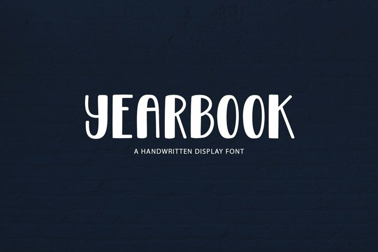 Web Font Yearbook - a handwritten display font example image 1