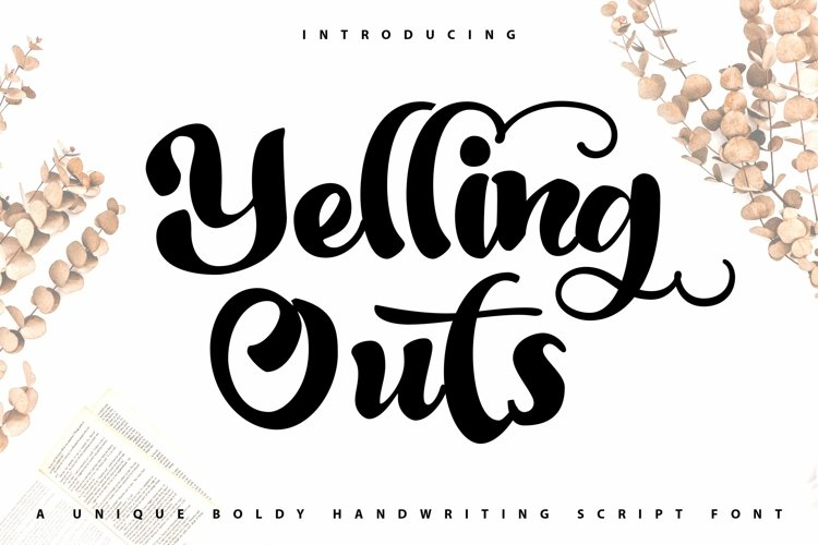 Web Font Yelling Outs - Boldy Handwriting Script Font example image 1