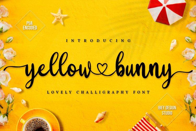 Yellow Bunny - Heart Font example image 1