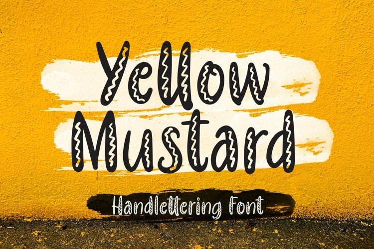 Web Font Yellow Mustard - Handlettering Font example image 1