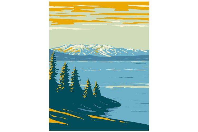 Yellowstone Lake in Yellowstone National Park WPA Poster Art