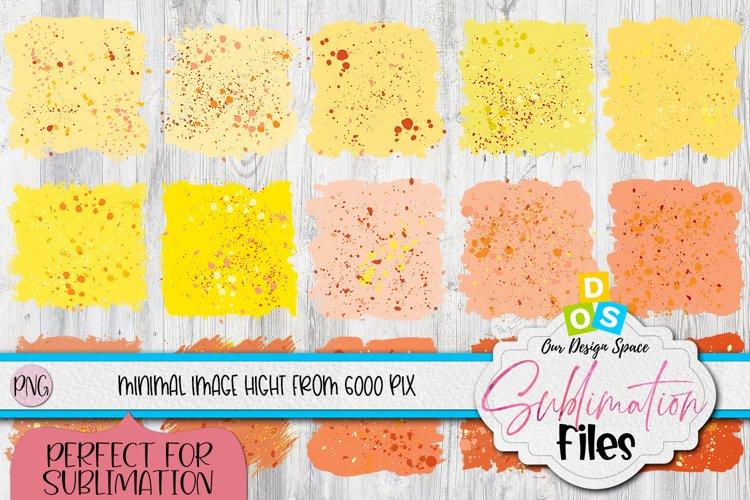 Yellow And Orange Sublimation Background Splatter Bundle