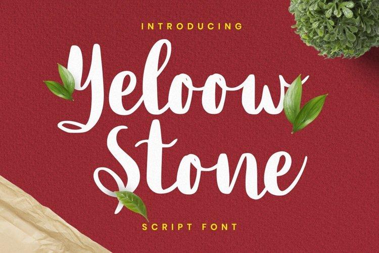 Web Font Yeloow Stone example image 1