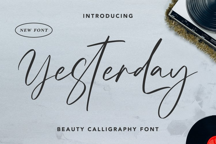 Yesterday - Beauty Calligraphy Font example image 1
