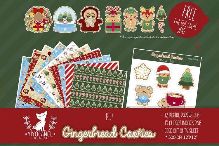 Gingerbread BUNDLE, Gingerbread clipart, Gingerbread pattern