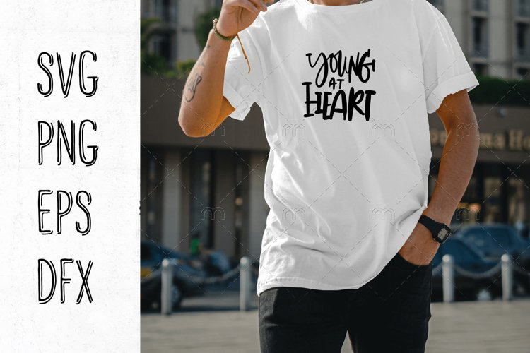 Young at heart. Young living SVG
