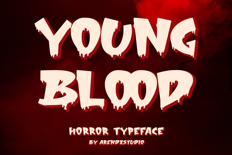 Young Blood - Horror Typeface example image 1