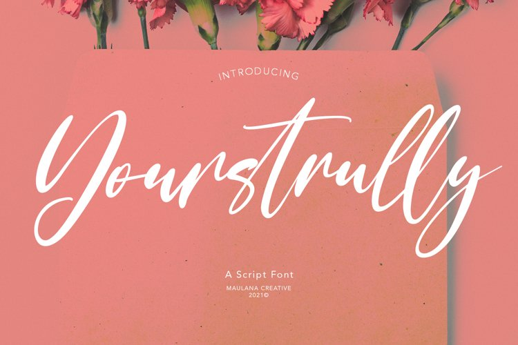 Yourstrully Script Font example image 1