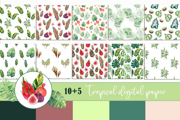 Tropical Digital Paper Set