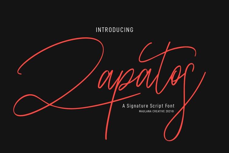 Zapatos Signature Script Font example image 1