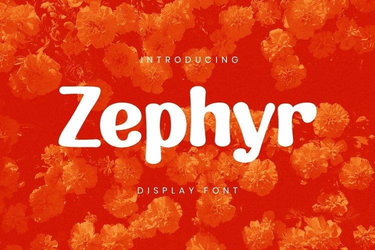 Web Font Zephyr Font example image 1
