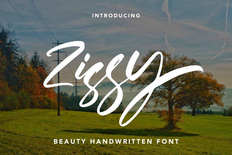 Zissy - Handwritten Font example image 1