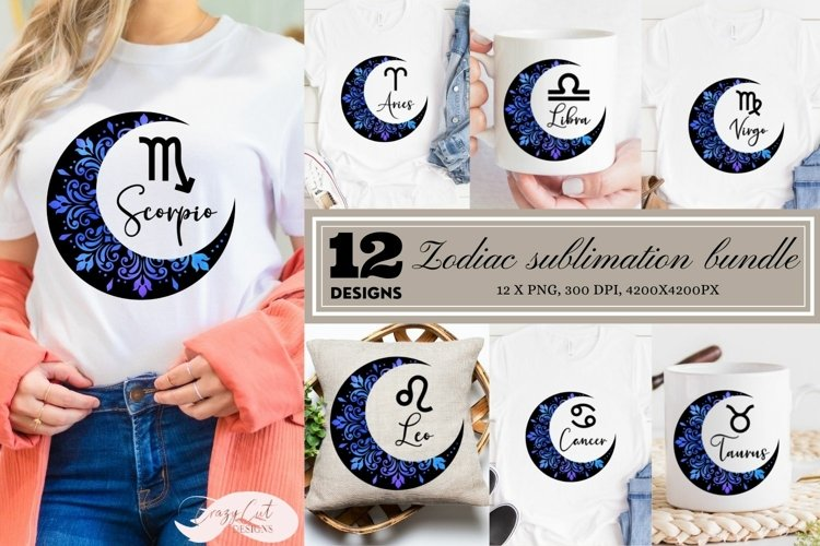 Zodiac sublimation bundle, sublimation zodiac signs example image 1