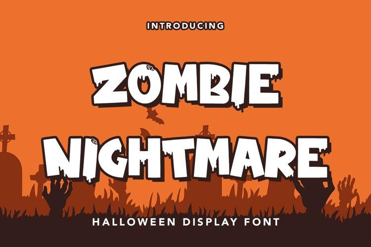 Zombie Nightmare - Halloween Display Font example image 1