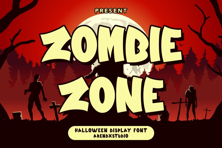 Zombie Zone -Halloween Display Font example image 1