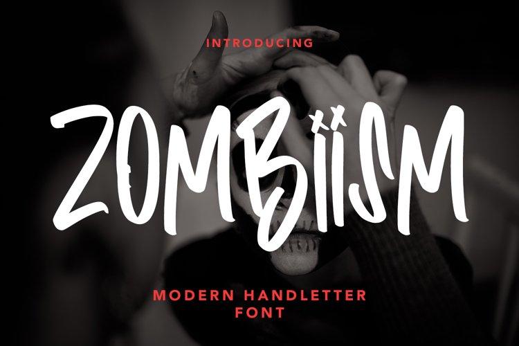 Zombiism - Modern Handletter Font