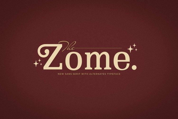 Web Font Zome example image 1