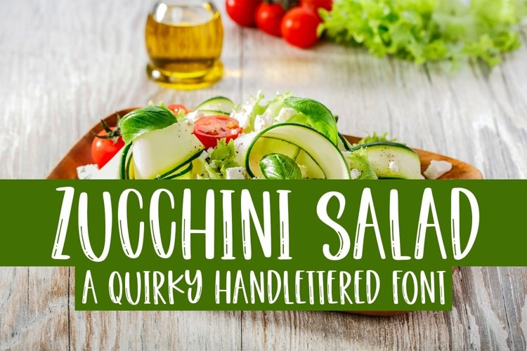 Web Font Zucchini Salad - A Quirky Handlettered Font example image 1